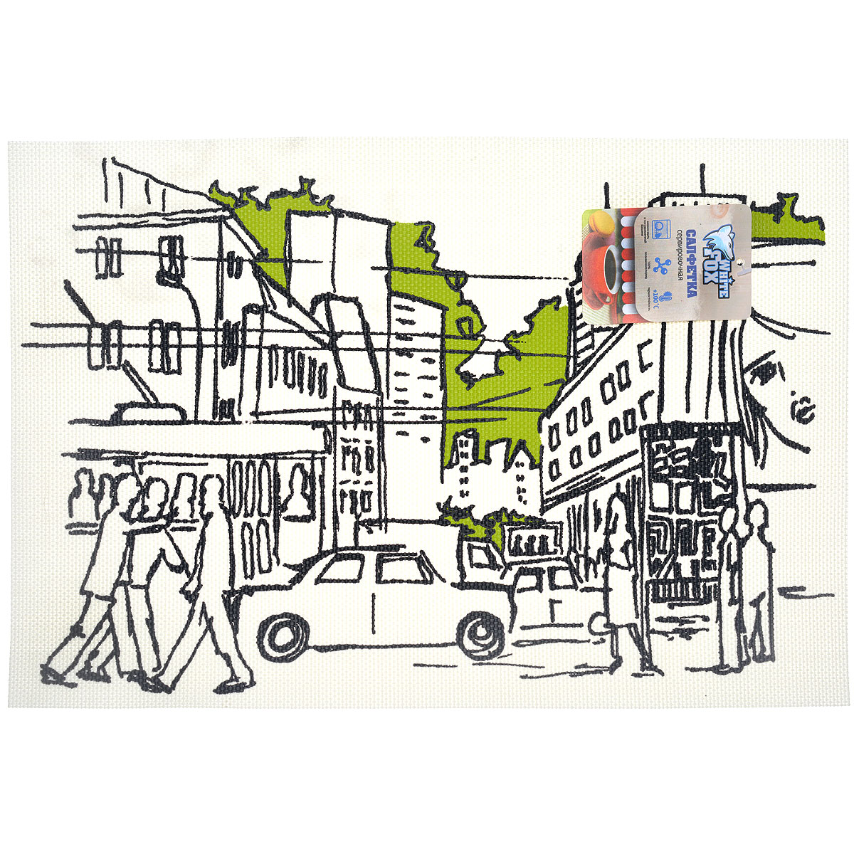 "Салфетка сервировочная White Fox ""Сити"", цвет: бежевый, 30 x 45 см, 4 шт"