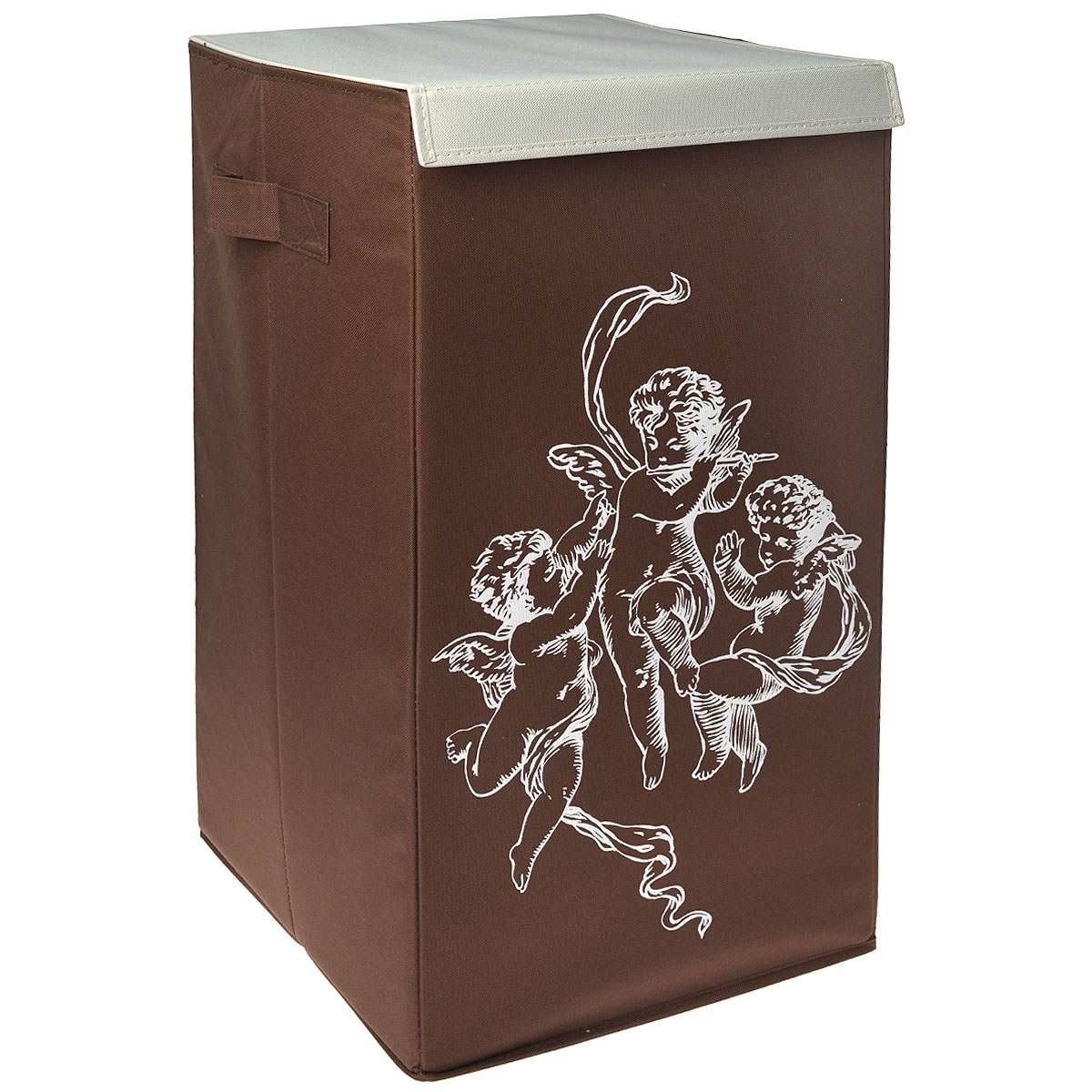 Корзина для белья Hausmann, цвет: коричневый, 35 x 35 x 64 см корзина для белья hausmann полиэстер