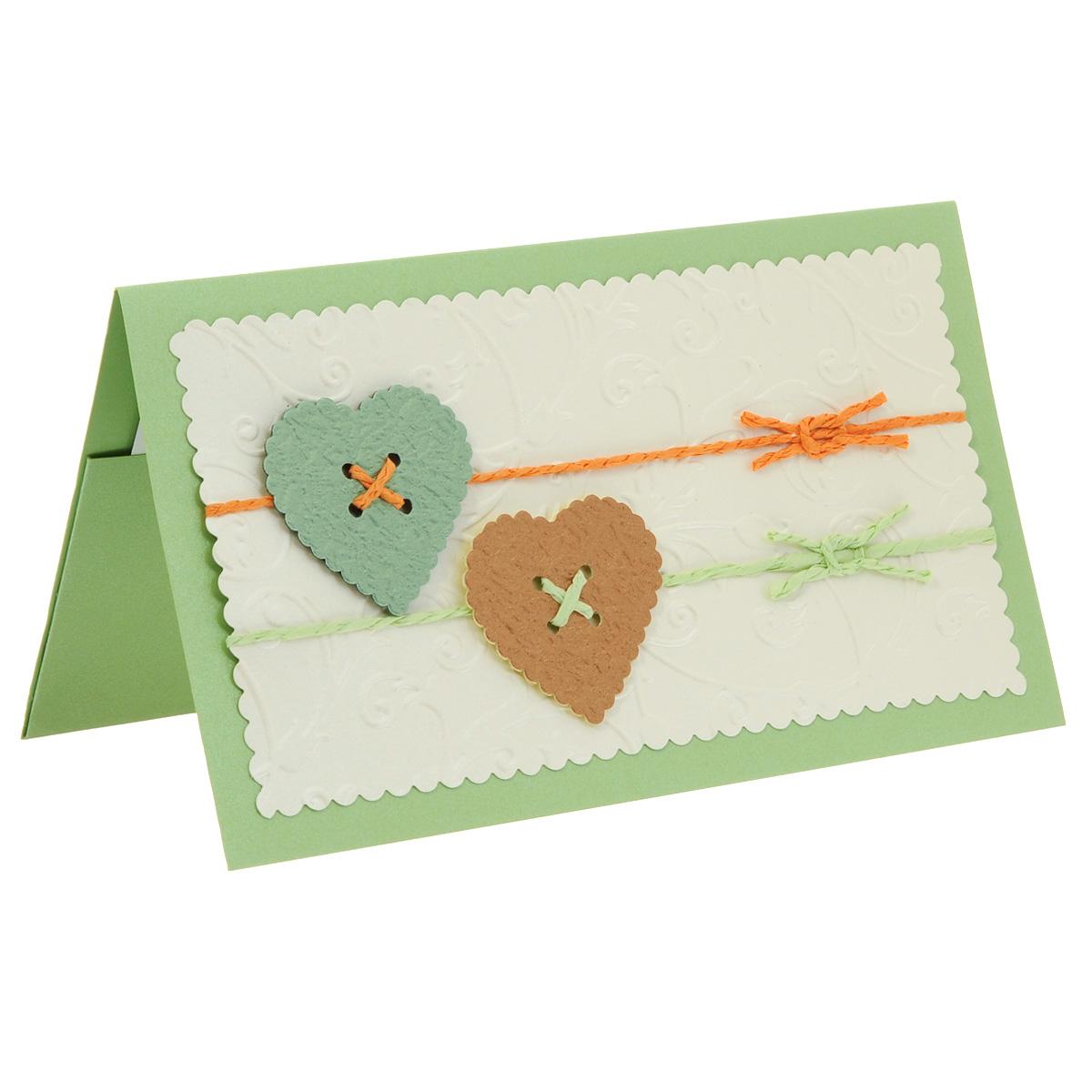 ОВЛ-0001 Открытка-конверт (сердечки с вощеным шнуром). Студия «Тётя Роза»94993Характеристики: Размер 19 см x 11 см.Материал: Высоко-художественный картон, бумага, декор. Данная открытка может стать как прекрасным дополнением к вашему подарку, так и самостоятельным подарком. Так как открытка является и конвертом, в который вы можете вложить ваш денежный подарок или просто написать ваши пожелания на вкладыше. Легкий, свежий конверт с ажурными сердечками в виде пуговок на шнурках выполнен в нежно-зеленых и кремовых тонах. Основной фон выполнен с рельефными вензелями, которые придают праздничную нарядность этому поздравлению. Также открытка упакована в пакетик для сохранности.Обращаем Ваше внимание на то, что открытка может незначительно отличаться от представленной на фото.Открытки ручной работы от студии Тётя Роза отличаются своим неповторимым и ярким стилем. Каждая уникальна и выполнена вручную мастерами студии. (Открытка для мужчин, открытка для женщины, открытка на день рождения, открытка с днем свадьбы, открытка винтаж, открытка с юбилеем, открытка на все случаи, скрапбукинг)