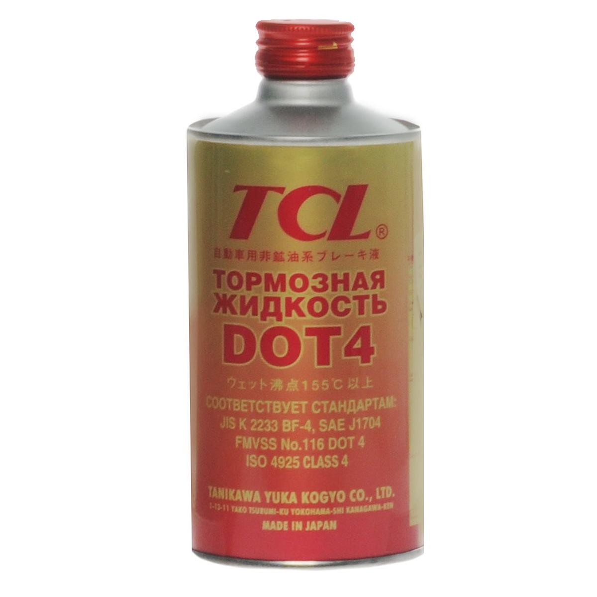 Жидкость тормозная TCL DOT4, 355 мл840Тормозная жидкость CL DOT4 супервысокого качества, отлично подходящая для гидравлических тормозных систем автомобилей, в том числе тормозных систем новых моделей. Идеальна для дисковых тормозных систем. Смешивается с любой тормозной жидкостью, отвечающей стандартам производителей автомобилей. Предотвращает коррозию частей тормозной системы, преждевременный выход из строя резиновых сальников. Обеспечивает надежную и долговременную работу тормозной системы автомобиля. Температура кипения сухой жидкости - свыше 2300°С, увлажненной - свыше 1550°С.Соответствует требованиям стандартов: JIS K 2233 BF-4, SAE J 1704, FMVSS No. 116 DOT 4.