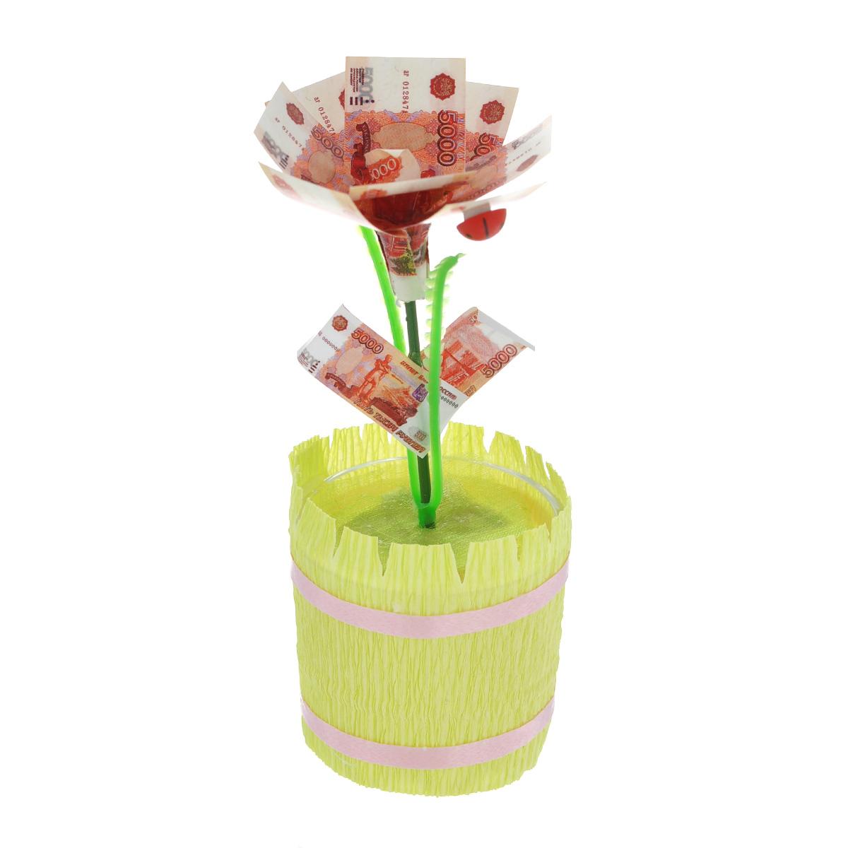 Фигурка декоративная Расцвет бизнеса, цвет: желтый, зеленый фигурка декоративная эврика жизнь полна сюрпризов но ты самый приятный