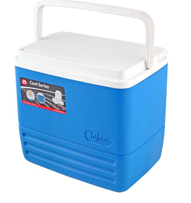 Изотермический контейнер Igloo Cool, цвет: синий, 15 л10847Легкий и прочный изотермический контейнер Igloo Cool, изготовленный из высококачественного пластика, предназначен для транспортировки и хранения продуктов и напитков. Корпус гладкий, эргономичного дизайна, ударопрочный. Поддержание внутреннего микроклимата обеспечивается за счет термоизоляционной прокладки из пены Ultra Therm, способной удерживать температуру внутри корпуса до 24 часов. Для поддержания температуры использовать с аккумуляторами холода. Контейнер имеет усиленную ручку с фиксацией и широко открывающуюся крышку для легкого доступа к продуктам. Крышка плотно и герметично закрывается. Такой контейнер можно взять с собой куда угодно: на отдых, пикник, на дачу, катание на лодке и т.д. Он имеет компактные размеры и не займет много места.