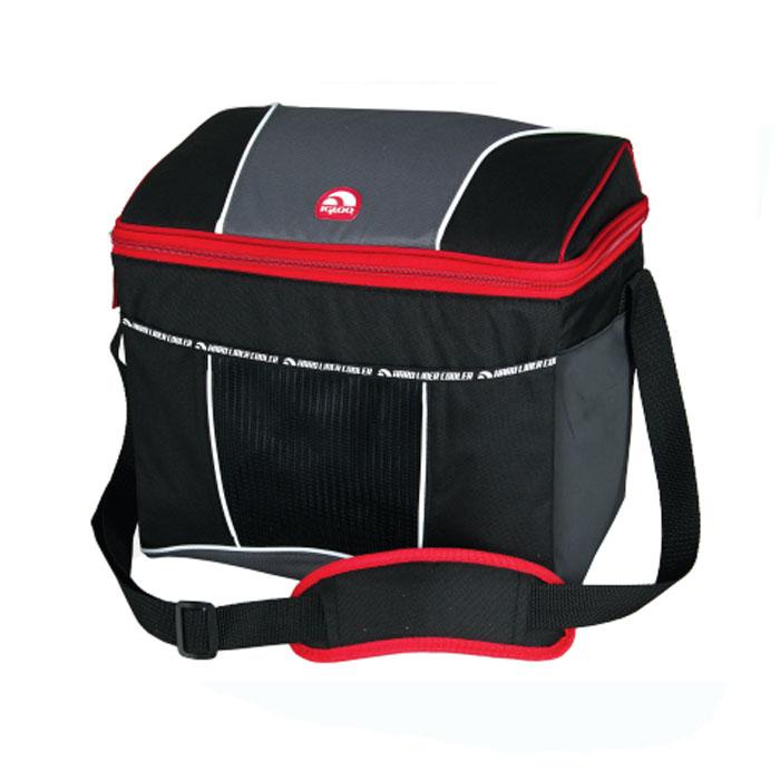 """Сумка-термос Igloo """"HLC 12"""", со съемным пластиковым контейнером, цвет: красный, 12 л"""