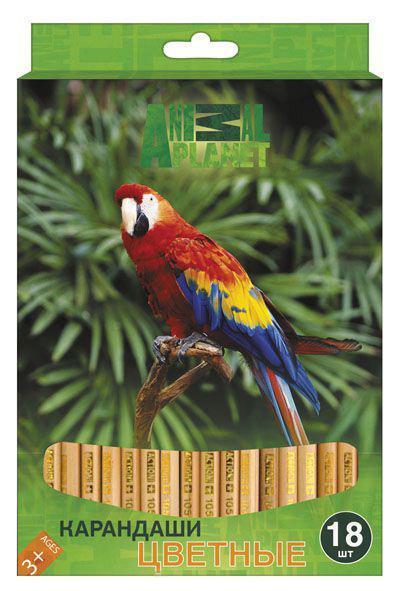 Набор карандашей цветных ACTION! ANIMAL PLANET,европодвес, 18 цв., (ACTION!)AP-ACP105-18Особенности: Шестигранный корпус Заточеннные