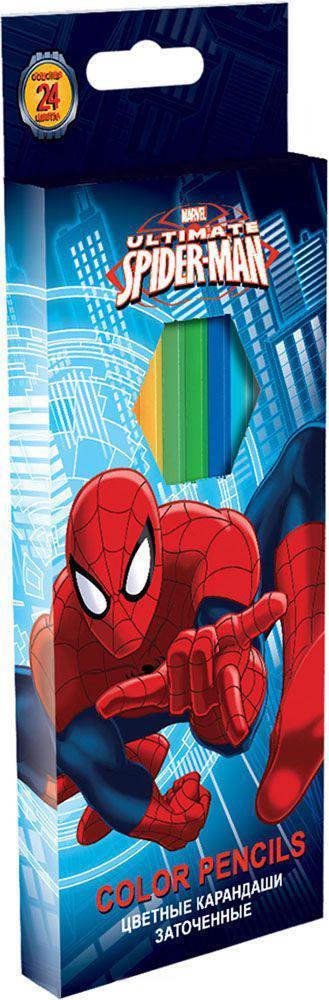 Набор цветных карандашей, 24 шт.Spider-man ClassicSMBB-US2-1P-24Набор цветных карандашей 24 цвета. Яркие, насыщенные цвета, мягкое письмо. Прочный неломающийся грифель диаметром 3 мм. Высококачественная древесина. Двойная проклейка стержня специальным клеем предотвращает поломку грифеля при падении. Легко затачив