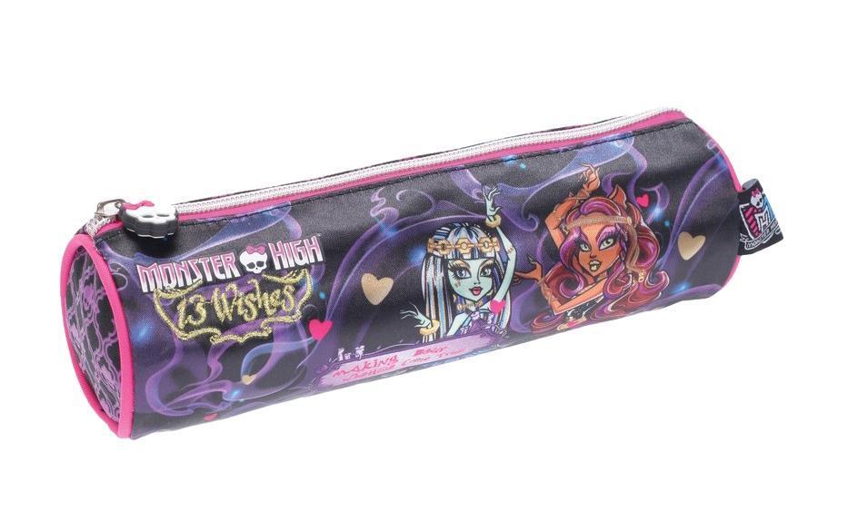 Пенал-круглый Мonster high, 20*6см.,ткань полиэстер85309Пенал Monster High - прекрасный подарок школьнику.
