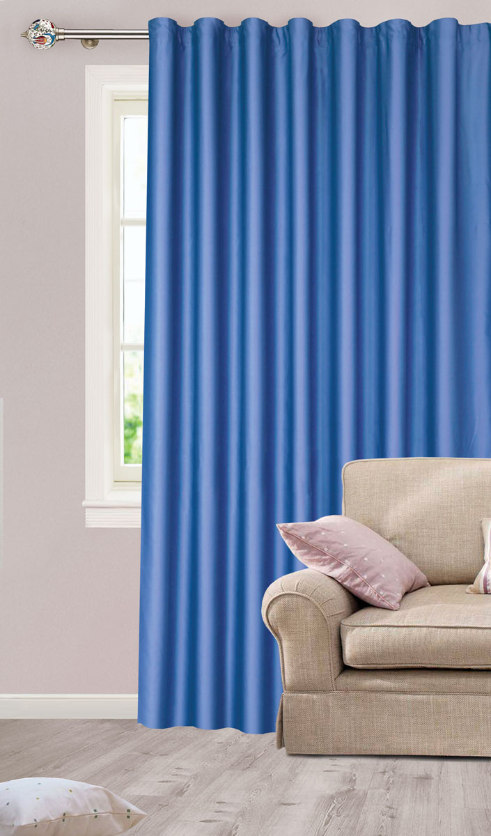 Штора для гостиной Garden, на ленте, цвет: темно-синий, размер 200*260 см. с w1223 V79118с w1223V79118Роскошная штора-портьера Garden выполнена из сатина (100% полиэстера). Материал плотный и мягкий на ощупь.Оригинальная текстура ткани и нежный цвет привлекут к себе внимание и органично впишутся в интерьер помещения.Эта штора будет долгое время радовать вас и вашу семью!Штора крепится на карниз при помощи ленты, которая поможет красиво и равномерно задрапировать верх. Стирка при температуре 30°С.