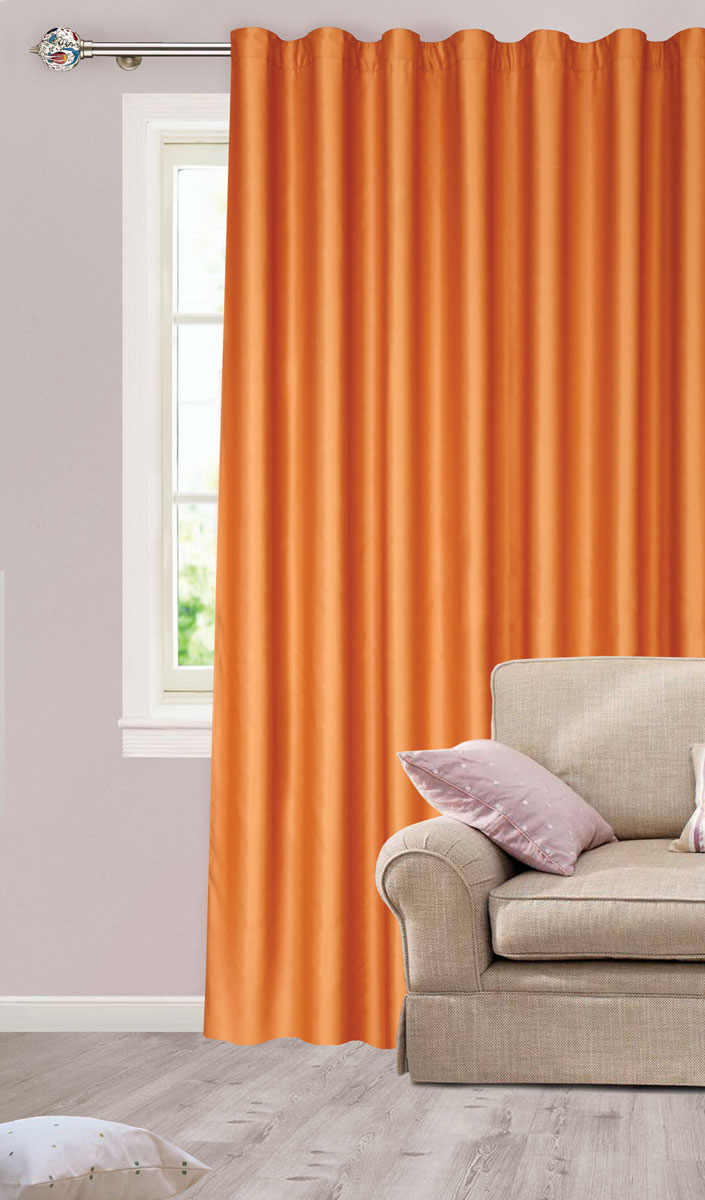 Штора для гостиной Garden, на ленте, цвет: медный, размер 200*260 см. сw1223 V75047с w1223 V75047Роскошная штора-портьера Garden выполнена из сатина (100% полиэстера). Материал плотный и мягкий на ощупь.Оригинальная текстура ткани и нежный цвет привлекут к себе внимание и органично впишутся в интерьер помещения.Эта штора будет долгое время радовать вас и вашу семью!Штора крепится на карниз при помощи ленты, которая поможет красиво и равномерно задрапировать верх. Стирка при температуре 30°С.