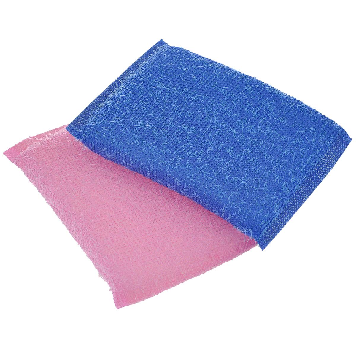 Губка для мытья посуды Хозяюшка Мила Кактус, цвет: розовый, синий, 2 шт01008-100Набор Хозяюшка Мила Кактус состоит из 2 губок, изготовленных из поролона. Они предназначены для интенсивной чистки и удаления сильных загрязнений с посуды (противни, решетки-гриль, кастрюли).Не рекомендуется использовать для посуды с антипригарным покрытием. Губки сохраняют чистоту и свежесть даже после многократного применения, а их эргономичная форма удобна для руки.Размер губки: 12 х 2 х 8 см.