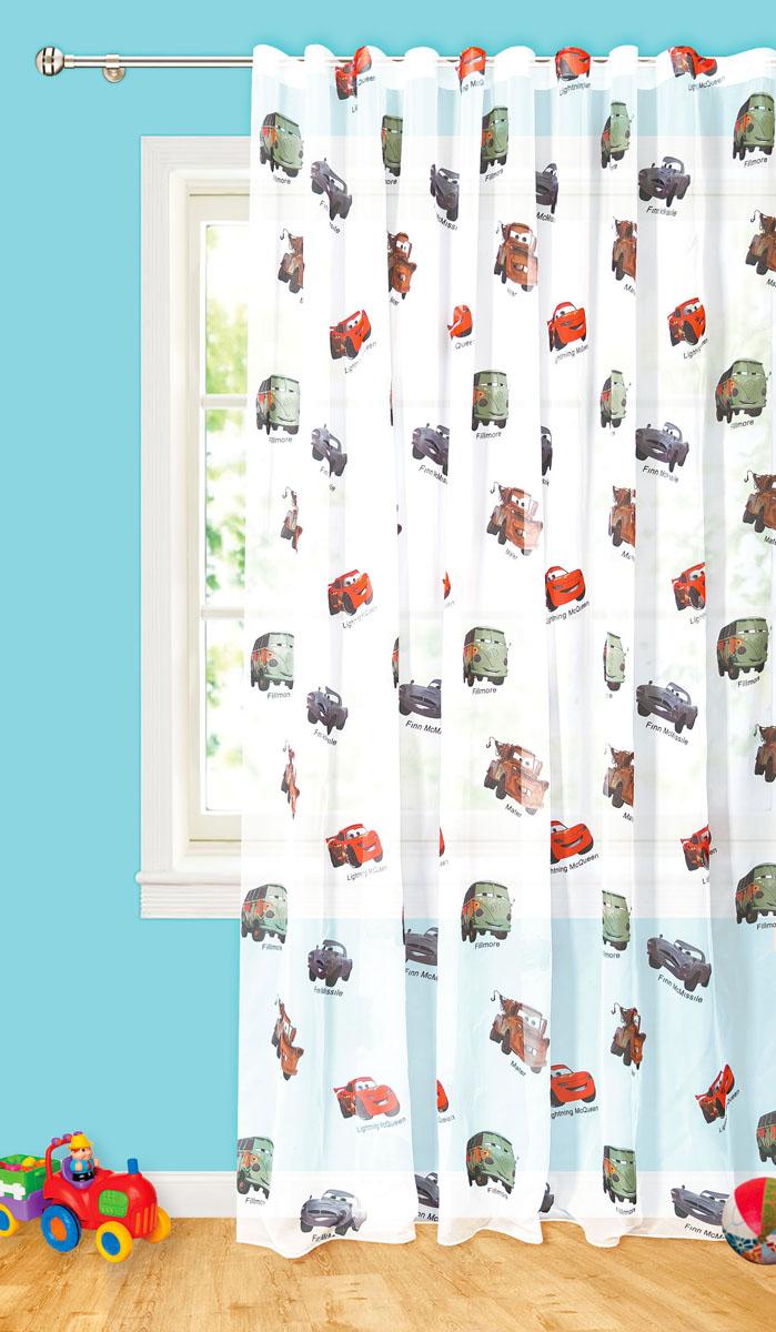 Штора готовая для гостиной Garden Разноцветные автобусы, на ленте, цвет: белый, размер 300*260 смС 10236 - W191 V2Изящная тюлевая штора Garden Разноцветные автобусы выполнена из высококачественной вуали (полиэстера). Полупрозрачная ткань, приятный цвет привлекут к себе внимание и органично впишутся в интерьер помещения. Такая штора идеально подходит для солнечных комнат. Мягко рассеивая прямые лучи, она хорошо пропускает дневной свет и защищает от посторонних глаз. Отличное решение для многослойного оформления окон. Эта штора будет долгое время радовать вас и вашу семью!Штора крепится на карниз при помощи ленты, которая поможет красиво и равномерно задрапировать верх.