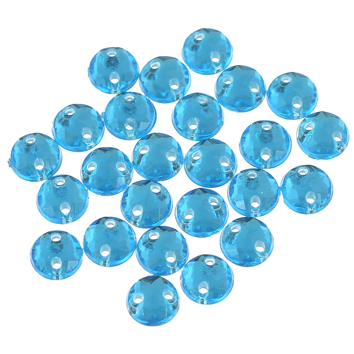 Стразы пришивные Астра, акриловые, круглые, цвет: голубой (32), диаметр 6,5 мм, 25 шт. 7701643_327701643_32 голубойНабор страз Астра, изготовленный из акрила, позволит вам украсить одежду и аксессуары. Стразы оригинального и яркого дизайна выполнены в форме круга и оснащены отверстиям для пришивания. Украшение стразами поможет сделать любую вещь оригинальной и неповторимой.