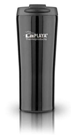 Кружка-термос LaPlaya Vacuum Travel Mug, цвет: черный, 0,4 л560057Вакуумная кружка-термос LaPlaya Vacuum Travel Mug удобна для использования в быту, походе и путешествиях. Подходит для горячих и холодных напитков. Оснащена крышкой с системой быстрого открывания для легкого питья. Внешняя и внутренняя стенки выполнены из нержавеющей стали. Подходит для большинства автомобильных держателей стаканов.Высота: 20,5 см.Диаметр: 8 см.Сохраняет тепло: 6 ч.Сохраняет холод: 8 ч.