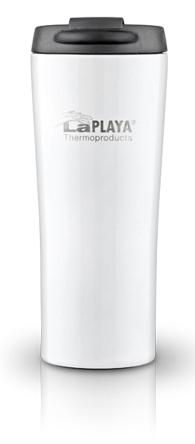 Кружка-термос LaPlaya Vacuum Travel Mug, цвет: белый, 0,4 л560058Вакуумная кружка-термос LaPlaya Vacuum Travel Mug удобна для использования в быту, походе и путешествиях. Подходит для горячих и холодных напитков. Оснащена крышкой с системой быстрого открывания для легкого питья. Внешняя и внутренняя стенки выполнены из нержавеющей стали. Подходит для большинства автомобильных держателей стаканов. Высота: 20,5 см. Диаметр: 8 см. Сохраняет тепло: 6 ч. Сохраняет холод: 8 ч.