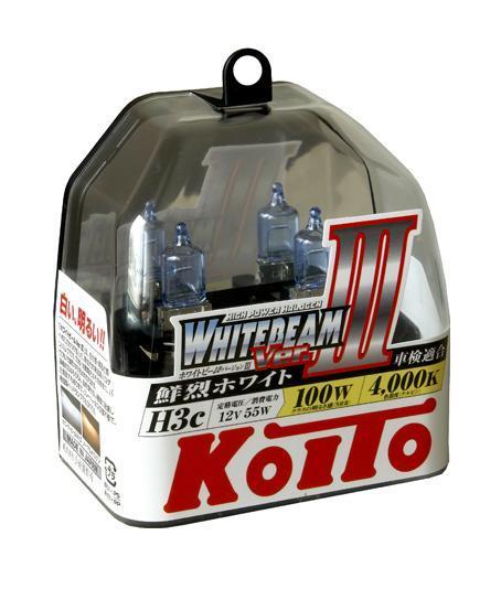 Комплект галогеновых ламп Koito Whitebeam H3c, 12V, 55W, 4000 К, 2 шт лампы koito