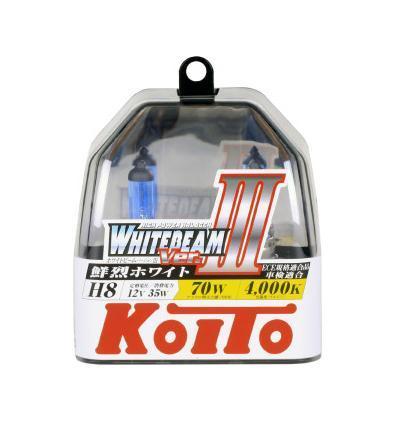 Купить Комплект галогеновых ламп Koito Whitebeam H8, 12V, 35W, 4000 К, 2 шт