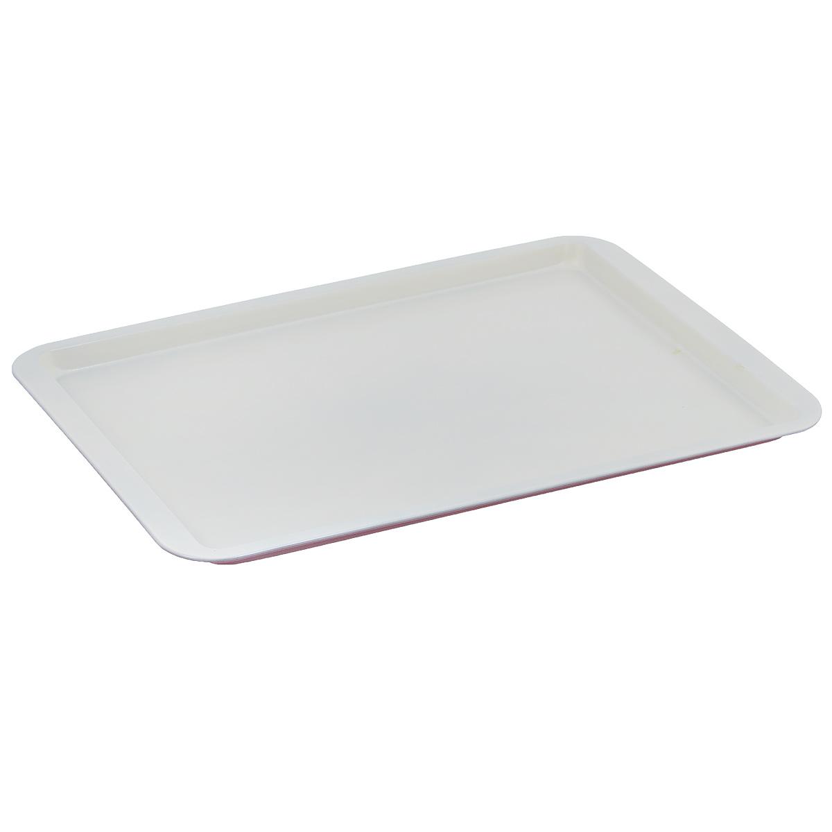 Противень Bekker, с керамическим покрытием, прямоугольный, цвет: красный, белый, 43 см х 29 смBK-3969Прямоугольный противень Bekker изготовлен из углеродистой стали с антипригарным керамическим покрытием Pfluon, благодаря чему пища не пригорает и не прилипает к стенкам посуды. Снаружи противня цветное жаропрочное покрытие. Готовить можно с добавлением минимального количества масла и жиров. Антипригарное покрытие также обеспечивает легкость мытья. Стенки ровные.Для чистки нельзя использовать абразивные чистящие средства и жесткие губки. Подходит для использования в духовом шкафу. Нельзя мыть в посудомоечной машине.