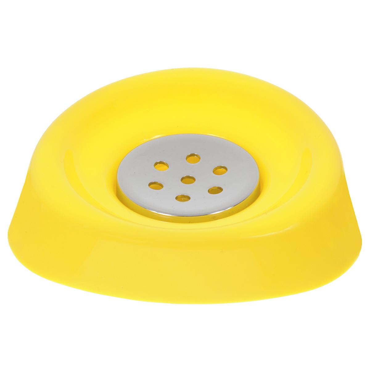 Мыльница Vanstore Wiki, цвет: желтый, 12,5 х 12,5 х 2,5 см357-04