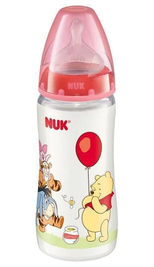 Бутылочка пластиковая NUK Дисней, с силиконовой соской для молока, 300 мл, от 0 до 6 месяцев
