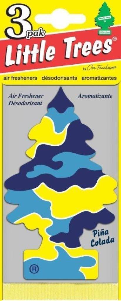 Набор ароматизаторов Car-Freshner Елочка Пина колада, 3 шт ароматизатор car freshner елочка пина колада