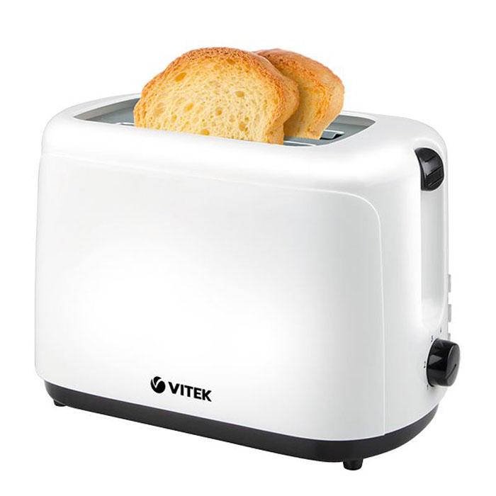 Vitek VT-1578(BW) тостерVT-1578(BW)Вкуснейшие, ароматные, хрустящие тосты на завтрак - приятное начало нового дня! Однако для приготовления настоящих тостов стоит воспользоваться надежной и качественной техникой. В этом случае тостер Vitek VT-1578 BW превратится в вашего верного помощника. Стильный, компактный и легкий в управлении, он позволит в считанные минуты приготовить великолепный завтрак на двоих - ведь в нем предусмотрены два отсека для тостов. Для вашего комфорта в тостере предусмотрены 6 режимов поджаривания, благодаря которым вы подберете оптимальную степень прожарки хлеба. Также вы можете остановить процесс поджаривания в любой момент, просто нажав соответствующую кнопку. Благодаря функции разморозки и подогрева вы легко подогреете готовые тосты или поджарите ломтики замороженного хлеба. Важно, что корпус тостера выполнен из термостойкого не нагревающегося пластика, что обеспечит безопасную работу с устройством.