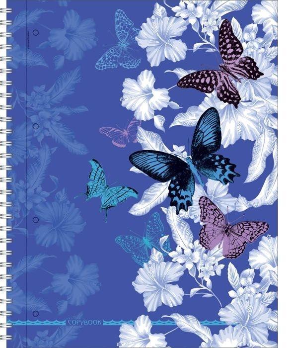 Полиграфика Тетрадь А4 120л Butterfly Waltz, УФ-лак, жесткий ламинат (матовый), цвет: синий4601921376555