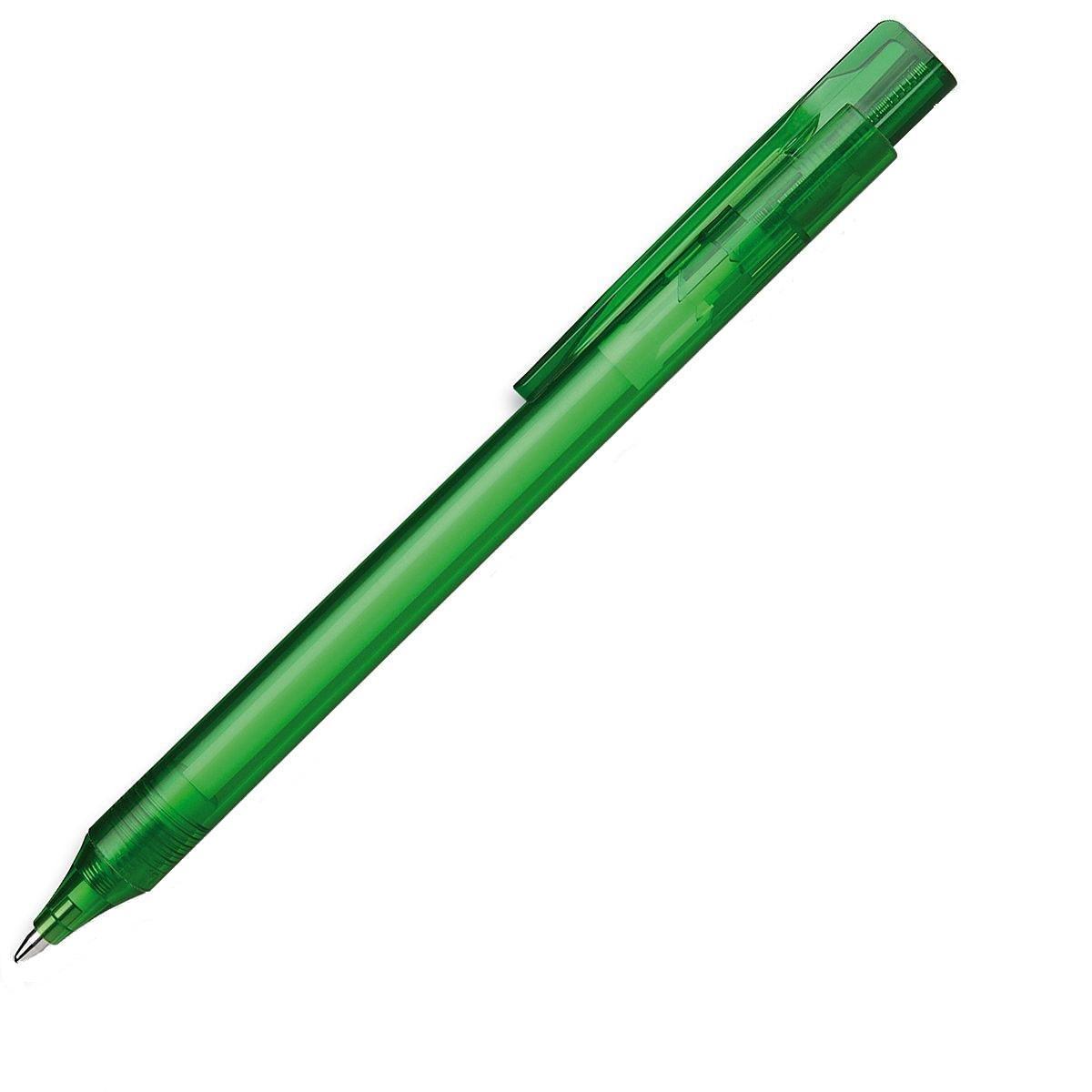 Ручка шариковая Essential, M - 0,5 мм, корпус зеленый прозрачный; синий цвет чернил.S937399/44 S937399-01/44