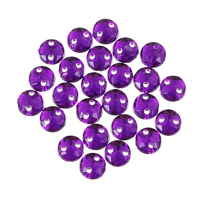Стразы пришивные Астра, акриловые, круглые, цвет: темный пурпур (22), диаметр 6,5 мм, 25 шт. 7701643_227701643_22 т.пурпурНабор страз Астра, изготовленный из акрила, позволит вам украсить одежду и аксессуары. Стразы оригинального и яркого дизайна выполнены в форме круга и оснащены отверстиям для пришивания. Украшение стразами поможет сделать любую вещь оригинальной и неповторимой.
