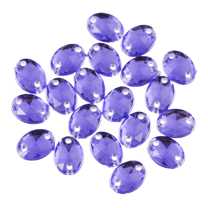 Стразы пришивные Астра, акриловые, овальные, цвет: фиолетовый (24), 6 мм х 8 мм, 20 шт. 7701649_247701649_24 фиолетовыйНабор страз Астра, изготовленный из акрила, позволит вам украсить одежду иаксессуары. Стразы оригинального и яркогодизайна овальной формы оснащены отверстиями для пришивания.Украшениестразами поможет сделать любую вещь оригинальной и неповторимой.