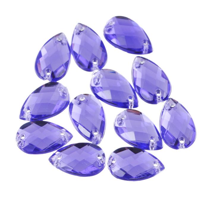 Стразы пришивные Астра, капля, цвет: фиолетовый (24), 8 х 13 мм, 12 шт. 77016557701655_24 фиолетовыйНабор страз Астра, изготовленный из акрила, позволит вам украсить одежду и аксессуары. Стразы оригинального и яркого дизайна выполнены в форме капли и оснащены отверстиям для пришивания. Украшение стразами поможет сделать любую вещь оригинальной и неповторимой.Размер страз: 8 х 13 мм.