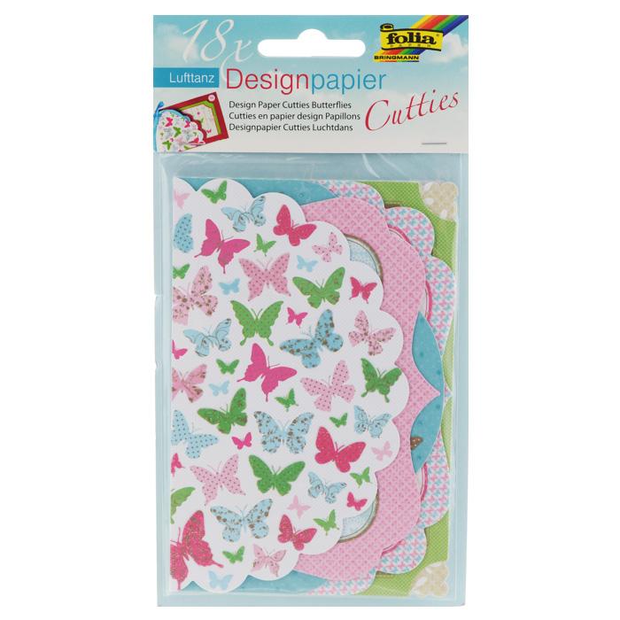 Тэги-ярлычки Folia Бабочки, 18 листов7707953Тэги-ярлычки Folia Бабочки - это очень красивая дизайнерская бумага с необычайно - восхитительными высечками на листочках с различными узорами и изображениями бабочек, декорированные блестками. В набор входит 18 листов бумаги (6 дизайнов по 3 листа в каждой тематике). Мини-карточки отрывные. Изделие идеально подходит для написания слов поздравлений на открытках, в семейных альбомах, на подарках, сувенирах, фоторамках, в декоре, скрапбукинге.