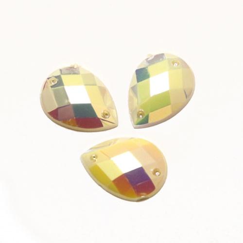Стразы пришивные Астра, цвет: перламутровый (46), 18 х 13 мм, 6 шт. 7701656