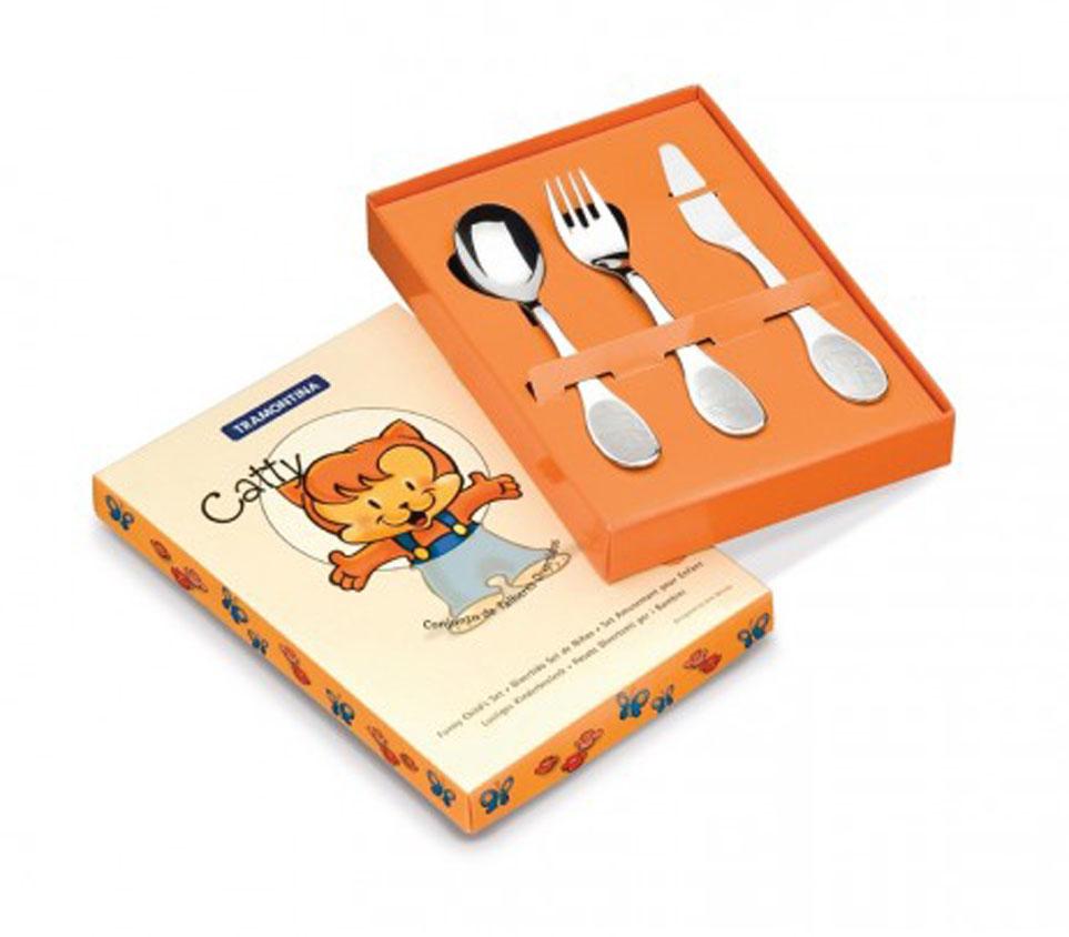 Детский набор столовых приборов Tramontina Catty, 3 предмета. 66971/000-TR tramontina 23824 068 tr