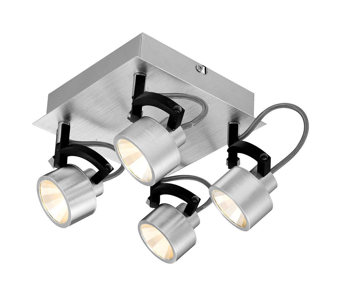 56947-4 Настенно-потолочный светильник HALEY56947-4Спот Globo 56947-4 из серии HALEY – потолочный светильник в стиле техно на металлической основе с пластиковыми плафонами