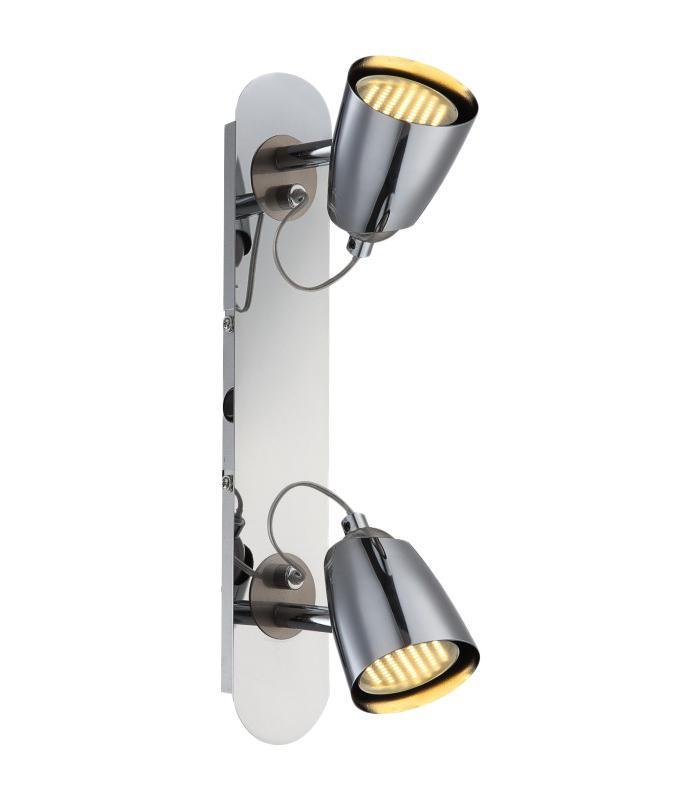 57604-2 TAMAS Спот57604-2Споты TAMAS 57604-2 в стиле модерн создают теплую, простую и уютную обстановку, отлично впишутся в дизайн спальни. Металлическое основание серого цвета отлично сочетается с плафоном из металла. Точечный светильник с максимальной мощностью 100W осветит комнату, площадью 7 кв.м.