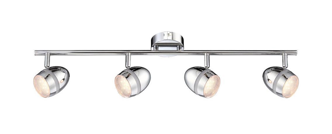 56206-4 MANJOLA Спот56206-4 Споты MANJOLA 56206-4 в стиле модерн - идеальный вариант для оформления элегантного интерьера спальни. Металлическое основание серого цвета отлично сочетается с плафоном из пластика. Точечный светильник с максимальной мощностью 3W осветит жилое пространство, площадью не более 1 кв.м.