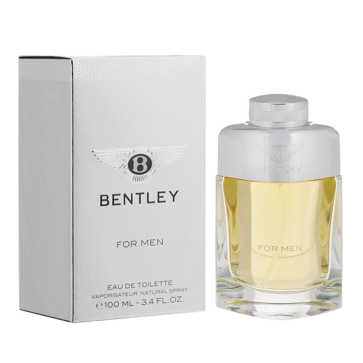 Bentley Туалетная вода For Men, мужская, 100 млB140308Благородный яркий аромат от Bentley по-достоинству оценит уверенный в себе современный мужчина. В основе идеи -трансформация роскошного автомобиля в не менее роскошный мужской аромат. Классификация аромата: древесный, кожаный, пряный. Пирамида аромата: Верхние ноты: черный перец, лавровый лист, бергамот. Ноты сердца: ром, корица, шалфей, ноты кожи. Ноты шлейфа: кедр, пачули, мускус, cиамский бензоин. Ключевые слова Cовременный, элегантный, мужественный!Туалетная вода - один из самых популярных видов парфюмерной продукции. Туалетная вода содержит 4-10%парфюмерного экстракта. Главные достоинства данного типа продукции заключаются в доступной цене, разнообразии форматов (как правило, 30, 50, 75, 100 мл), удобстве использования (чаще всего - спрей). Идеальна для дневного использования.Товар сертифицирован.