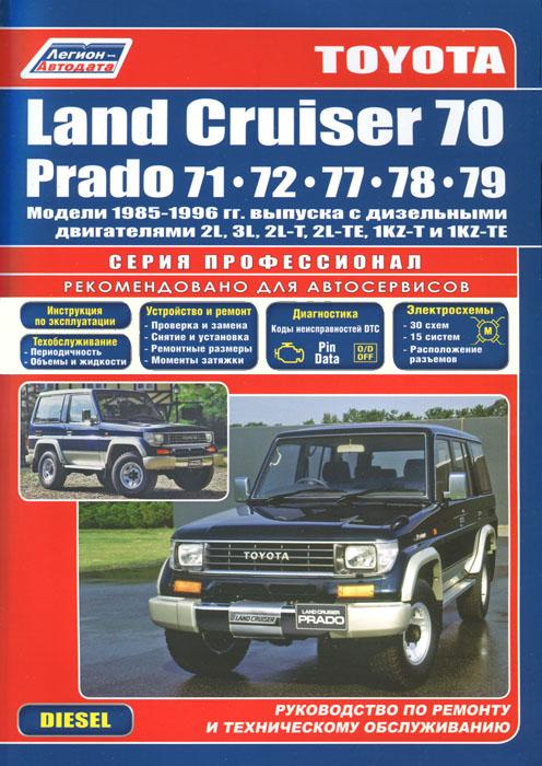 Toyota Land Cruiser 70 Prado 71/72/77/78/79. Модели 1985-1996 гг. выпуска. Руководство по ремонту и техническому обслуживанию toyota crown crown majesta модели 1999 2004 гг выпуска toyota aristo lexus gs300 модели 1997 руководство по ремонту и техническому обслуживанию