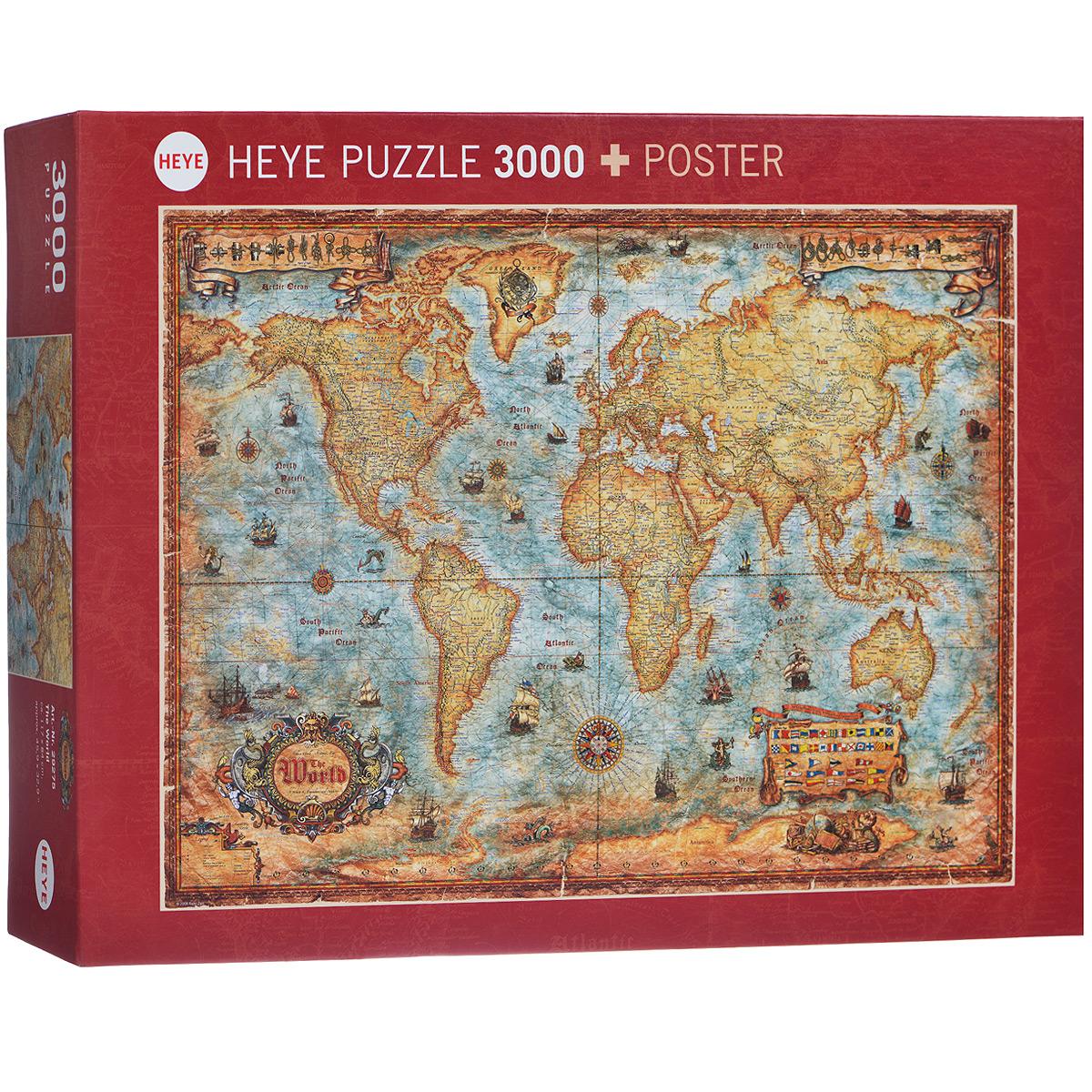 HEYE Карта историческая. Пазл, 3000 элементов