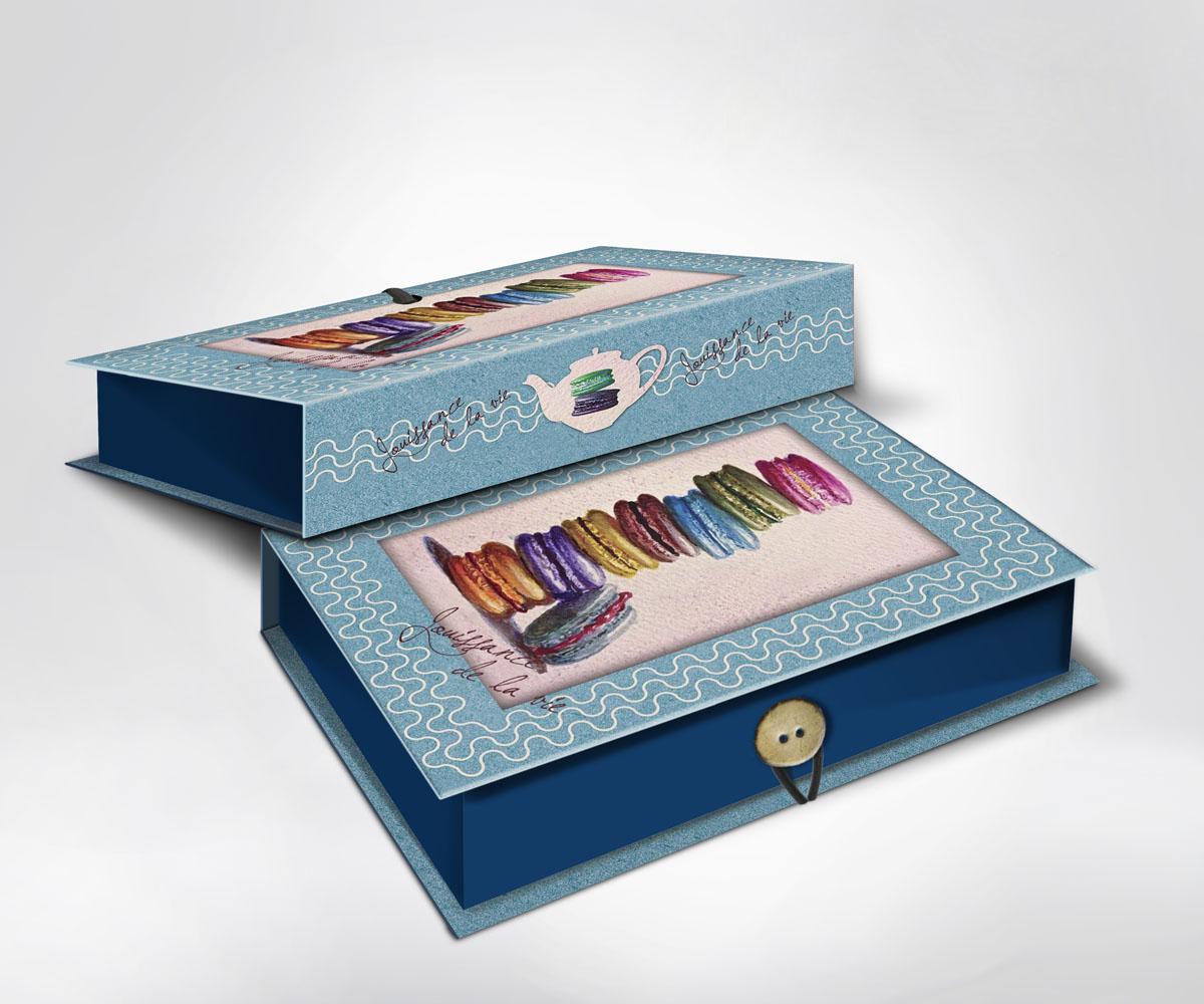 Подарочная коробка Пирожные, 22 см х 16 см х 7 см36497Подарочная коробка Пирожные выполнена из плотного картона. Крышка оформлена ярким изображением разноцветных пирожных. Коробка закрывается на пуговицу.Подарочная коробка - это наилучшее решение, если вы хотите порадовать ваших близких и создать праздничное настроение, ведь подарок, преподнесенный в оригинальной упаковке, всегда будет самым эффектным и запоминающимся. Окружите близких людей вниманием и заботой, вручив презент в нарядном, праздничном оформлении.