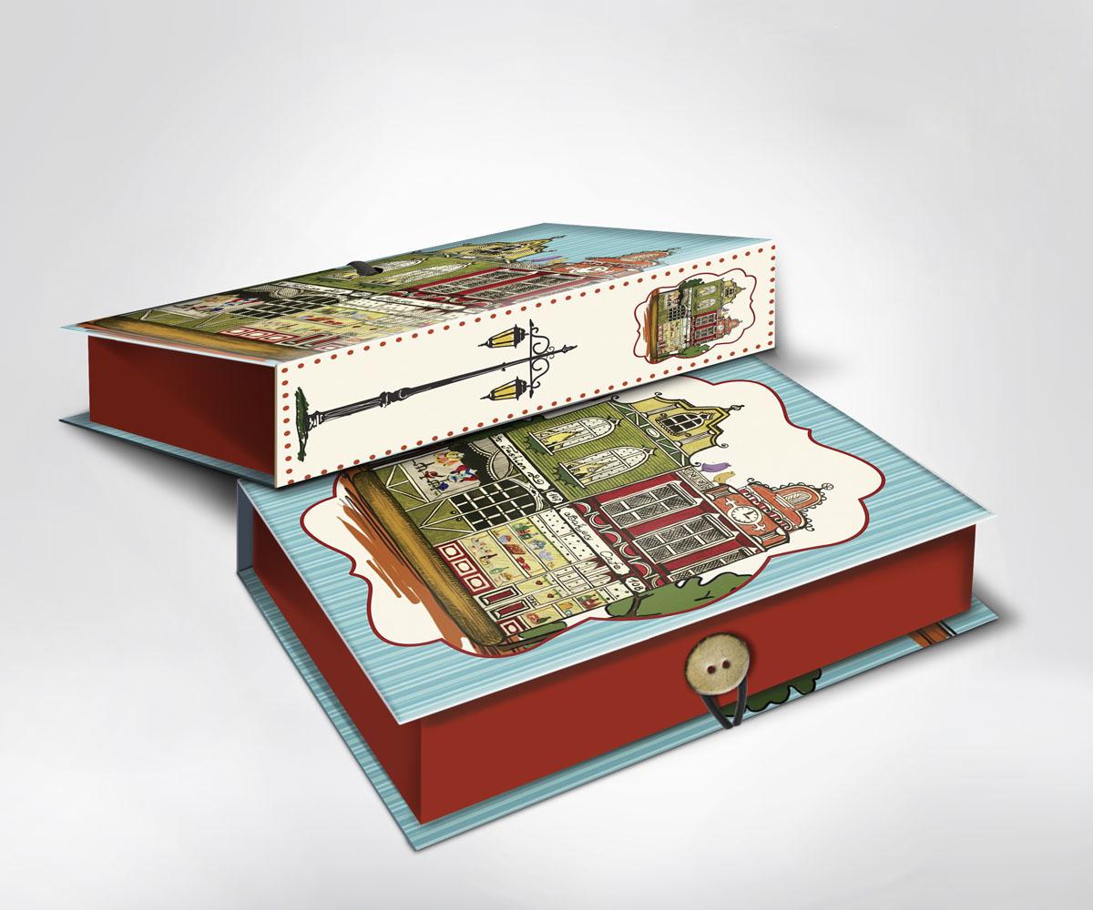 Подарочная коробка Феникс-Презент Амстердам, 20 х 14 х 6 см36529Подарочная коробка Амстердам выполнена из плотного картона. Крышка оформлена ярким изображением городского пейзажа. Коробка закрывается на пуговицу.Подарочная коробка - это наилучшее решение, если вы хотите порадовать ваших близких и создать праздничное настроение, ведь подарок, преподнесенный в оригинальной упаковке, всегда будет самым эффектным и запоминающимся. Окружите близких людей вниманием и заботой, вручив презент в нарядном, праздничном оформлении.