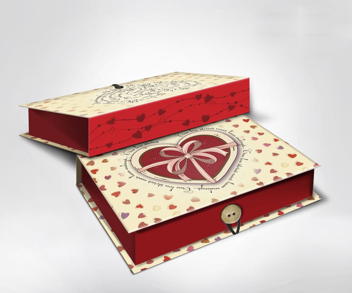 Подарочная коробка Сердце, 18 х 12 х 5 см36510Подарочная коробка Сердце выполнена из плотного картона. Крышка оформлена ярким изображением сердечек. Коробка закрывается на пуговицу.Подарочная коробка - это наилучшее решение, если вы хотите порадовать ваших близких и создать праздничное настроение, ведь подарок, преподнесенный в оригинальной упаковке, всегда будет самым эффектным и запоминающимся. Окружите близких людей вниманием и заботой, вручив презент в нарядном, праздничном оформлении.