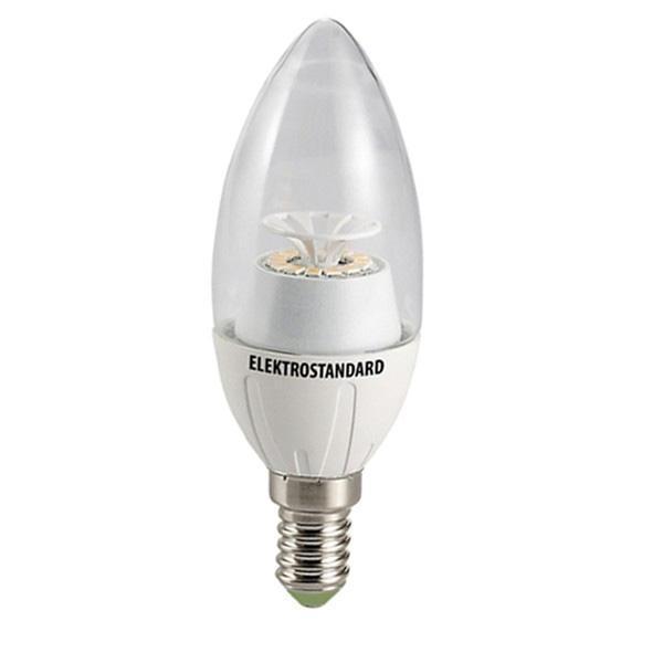 Светодиодная лампа ElektrostandardСвеча CR 14SMD 4W 4200K E14a029971Светодиодные лампы Elektrostandardблагодаря низкому потреблению и высокой энергоэффективности являются одним из самым перспективным видом освещения. Светодиодные лампы Электростандард можно устанавливать во все светильники в которых используются лампы накаливания, эноргосберегающие, галогенные. Срок службы светодиодных ламп составляет от 30000 до 50000 часов и не зависит от количества включения и выключения,Напряжение: 220 вольт