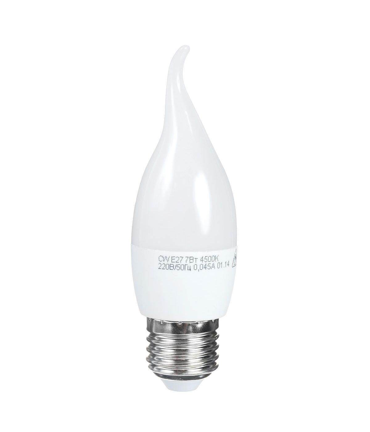 Светодиодная лампа Kosmos, белый свет, цоколь E27, 7W, 220V. Lksm_LED7wCWE2745Lksm_LED7wCWE2745Светодиодная лампа Kosmos инновационный и экологичный продукт, специально разработанный для эффективной замены любых видов галогенных или обыкновенных ламп накаливания во всех типах осветительных приборов. Основные преимущества лампы Kosmos: Служит 30000 часов, что в 30 раз дольше лампы накаливания. Экономична - сберегает до 90% электроэнергии. Обладает высокой механической прочностью и вибростойкостью. Устойчива к перепадам температуры (от -40°С до +50°С).Уважаемые клиенты! Обращаем ваше внимание на возможные изменения в дизайне упаковки. Качественные характеристики товара остаются неизменными. Поставка осуществляется в зависимости от наличия на складе.