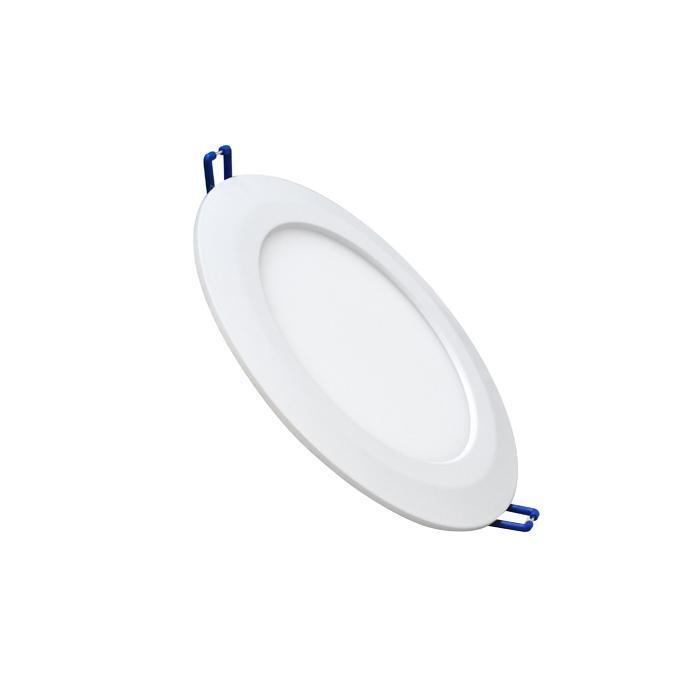 Светильник встраиваемый светодиодный тонкий круг 7W 2800K 400lm теплый белый D=155mm - цвет белый светильник встраиваемый светодиодный тонкий круг 15 5w 2800k 1000lm теплый белый d 235mm цвет серый
