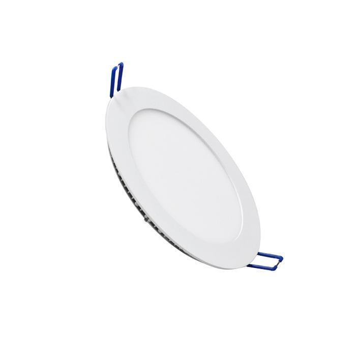 Светильник встраиваемый светодиодный тонкий круг 10W 2800K 700lm теплый белый D= 180mm - цвет белый светильник встраиваемый светодиодный тонкий круг 15 5w 2800k 1000lm теплый белый d 235mm цвет серый