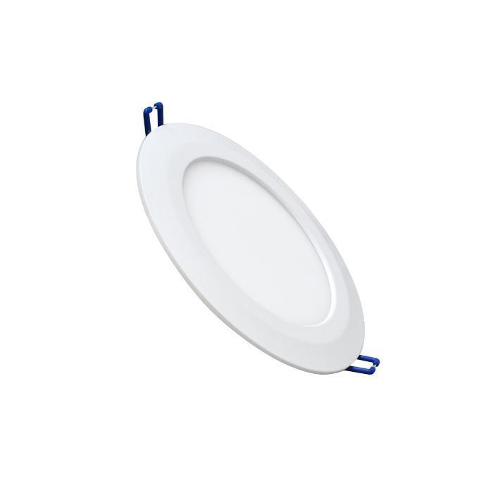 Светильник встраиваемый светодиодный тонкий круг 7W 6500K 420lm холодный белый D=155mm - цвет белый