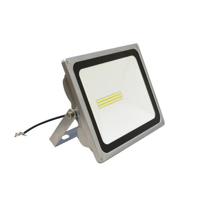 Прожектор уличный светодиодный 50W 2800K теплый белый - цвет серый прожектор светодиодный luck