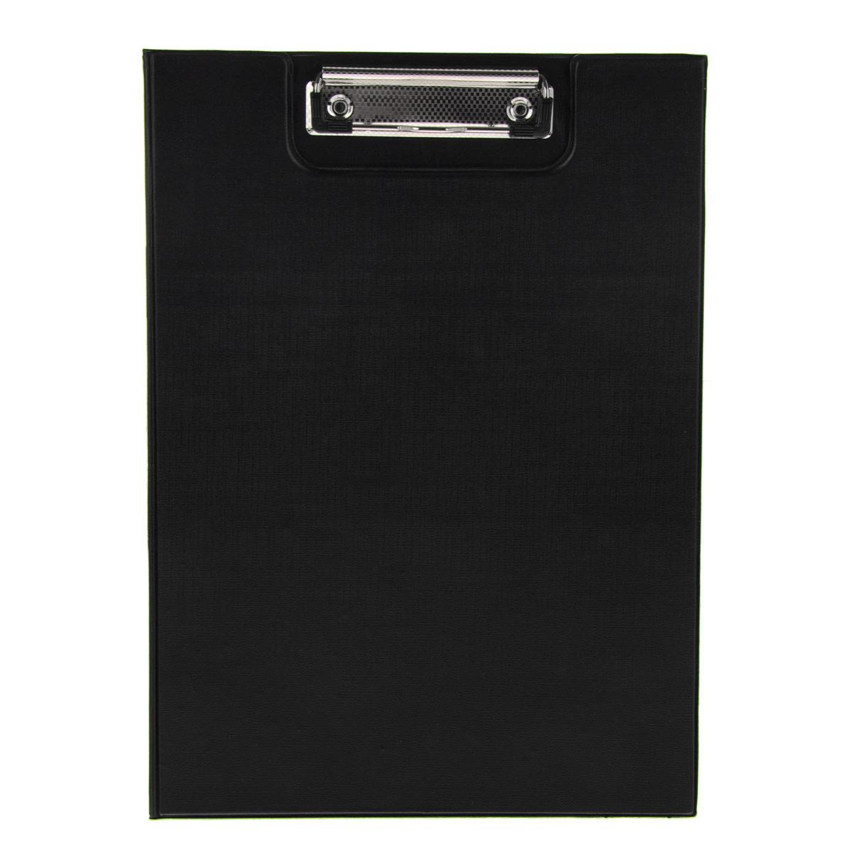 Папка-планшет Centrum, с крышкой, цвет: черный. Формат А480028Папка-планшет (клипборд) Centrum - это удобный и практичный инструмент для работы с документацией.Клипборд изготовлен из жесткого картона, обтянутого пленкой из ПВХ. Благодаря своей жесткости папка-планшет позволяет делать записи навесу. Металлический зажим надежно фиксирует листы, предотвращая сползание бумаги. Широкая крышка обеспечивает сохранность документов и защищает их от пыли и влаги.Папка-планшет будет незаменима для работы с документацией в дороге или на складе, а также может быть использована для подготовки и хранения текстов выступлений или докладов.