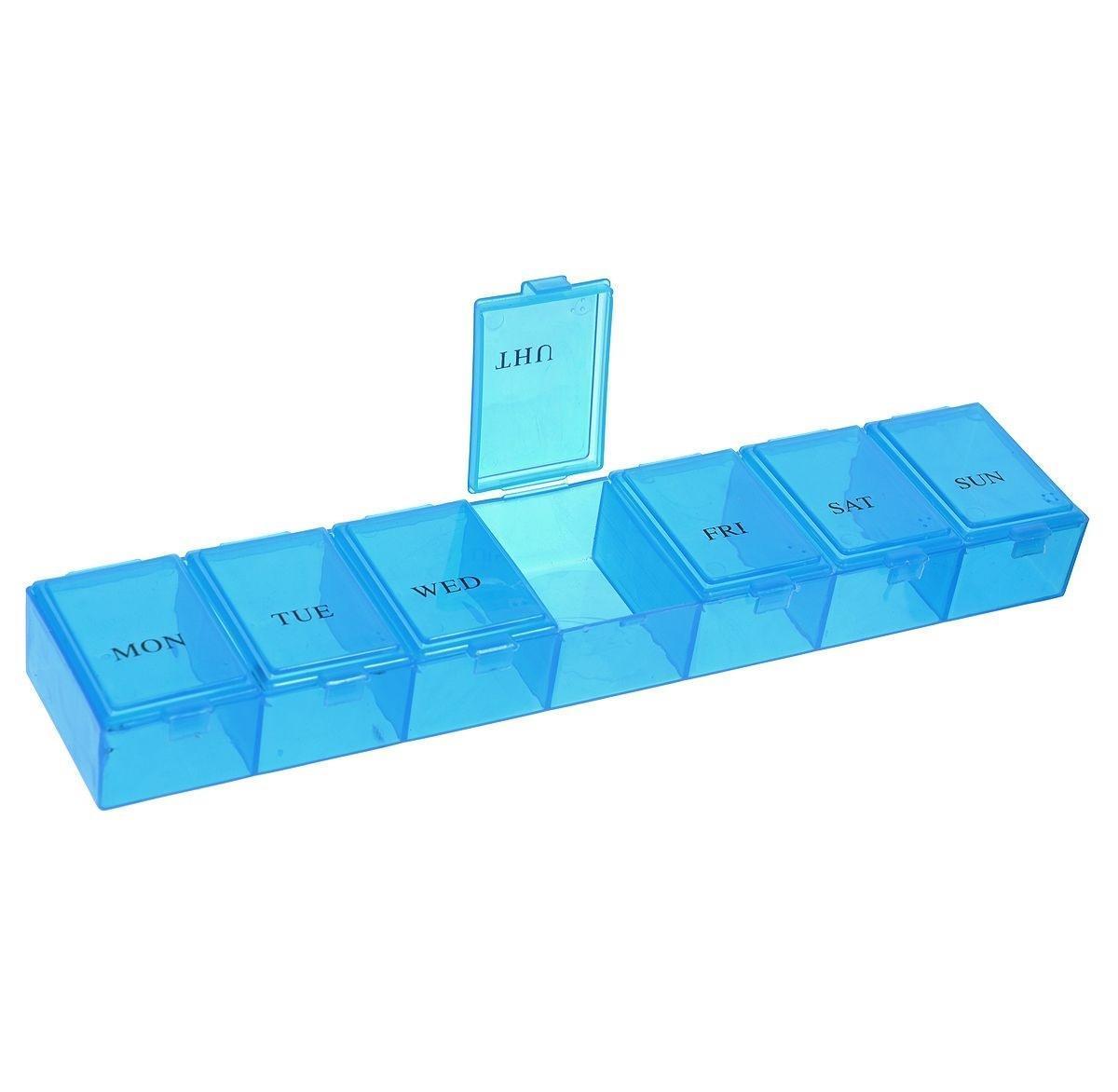 Таблетница Hobby & Pro, 23 х 4,7 х 3 см. 77042867704286Контейнер для таблеток с 7 отделениями на каждый день недели.