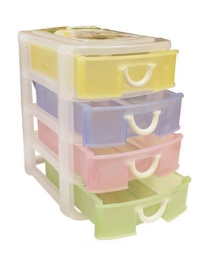 Контейнер для мелочей изготовлен из прозрачного пластика, что позволяет видеть содержимое. Внутри содержится 4 ячеек для хранения мелких принадлежностей. Крышка плотно закрывается. Такой контейнер поможет держать вещи в порядке. Идеально подходит для хранения принадлежностей для шитья и других мелких бытовых предметов.